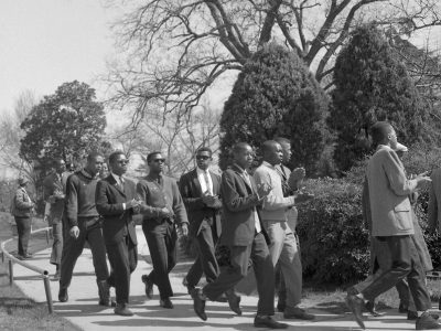 March 2, 1961. NAACP March at the Statehouse. (Courtesy of Cecil J Williams)