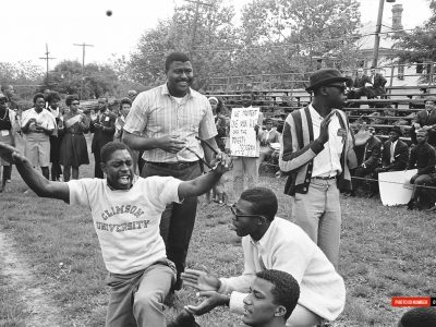 April 1965. NAACP March. Allen University's Hurst Field. (Courtesy of The State Newspaper)