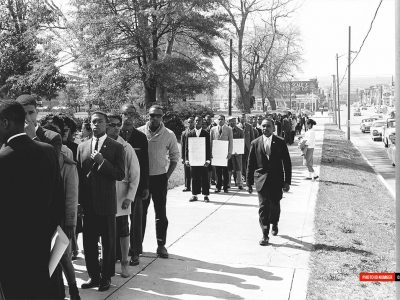 March 2, 1961. NAACP March at the The Statehouse. (Courtesy of The State Newspaper)