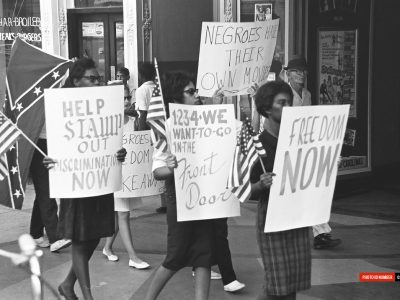 September 1963. Demonstrators on Columbia's Main St. (Courtesy of The State Newspaper)
