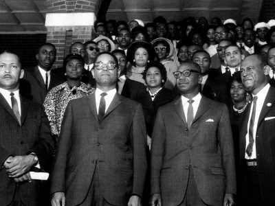 March 1963. NAACP rally at Columbia's Zion Baptist Church. (Courtesy of Cecil J Williams)